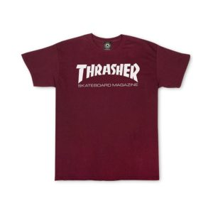 t-shirt-thrasher-skate-board-magazine-rouge-bordeaux