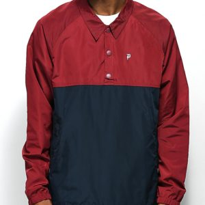 primitive-mens-jackets-red-blue-anorak-coaches-jacket-red