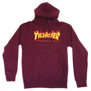 thrashersweat-flame-hoodmaroon